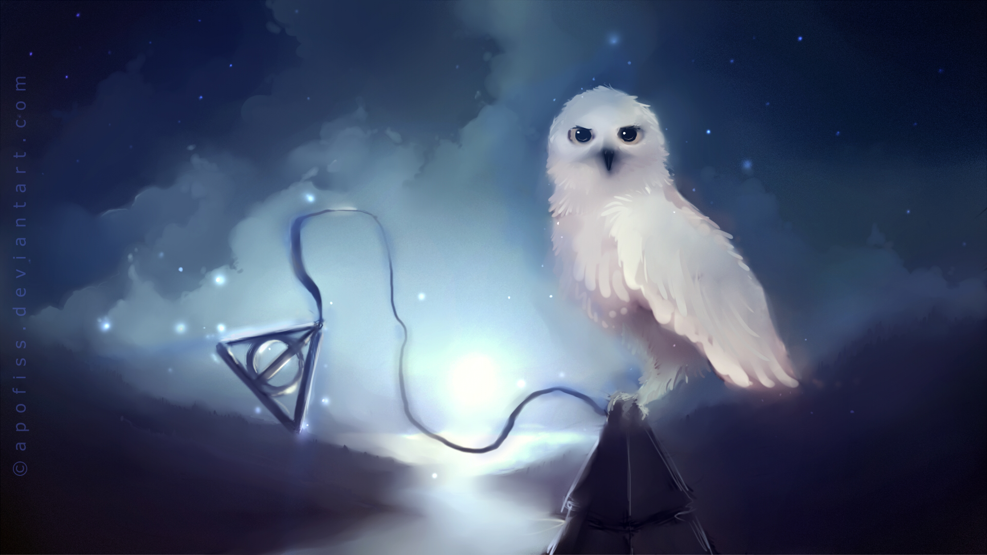 Amazing Wallpaper Harry Potter Fanart - Hedwig  Best Photo Reference_139068.jpg