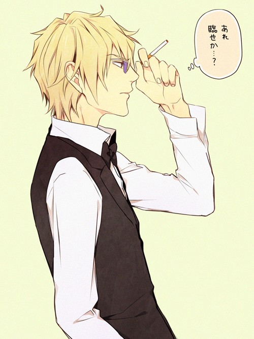 Tags: Anime, Sunglasses, Cigarette, Smoking, Durarara!!, Heiwajima Shizuo, Pasta69