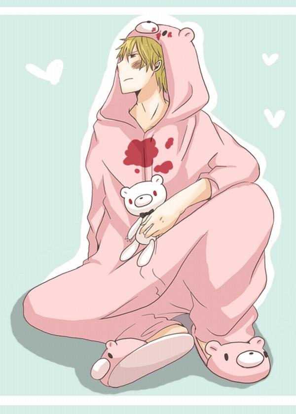 Tags: Anime, DURARARA!!, Heiwajima Shizuo, Gloomy Bear, Bear Hood, Gloomy Bear (Cosplay), Kigurumi, Pity, Bear Costume, Bear Slippers, Artist Request, Fanart