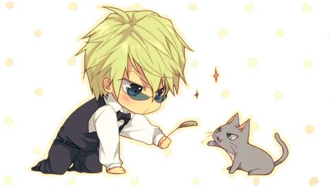 Tags: Anime, Circa, DURARARA!!, Heiwajima Shizuo, Cat Teaser, Facebook Cover, Pixiv