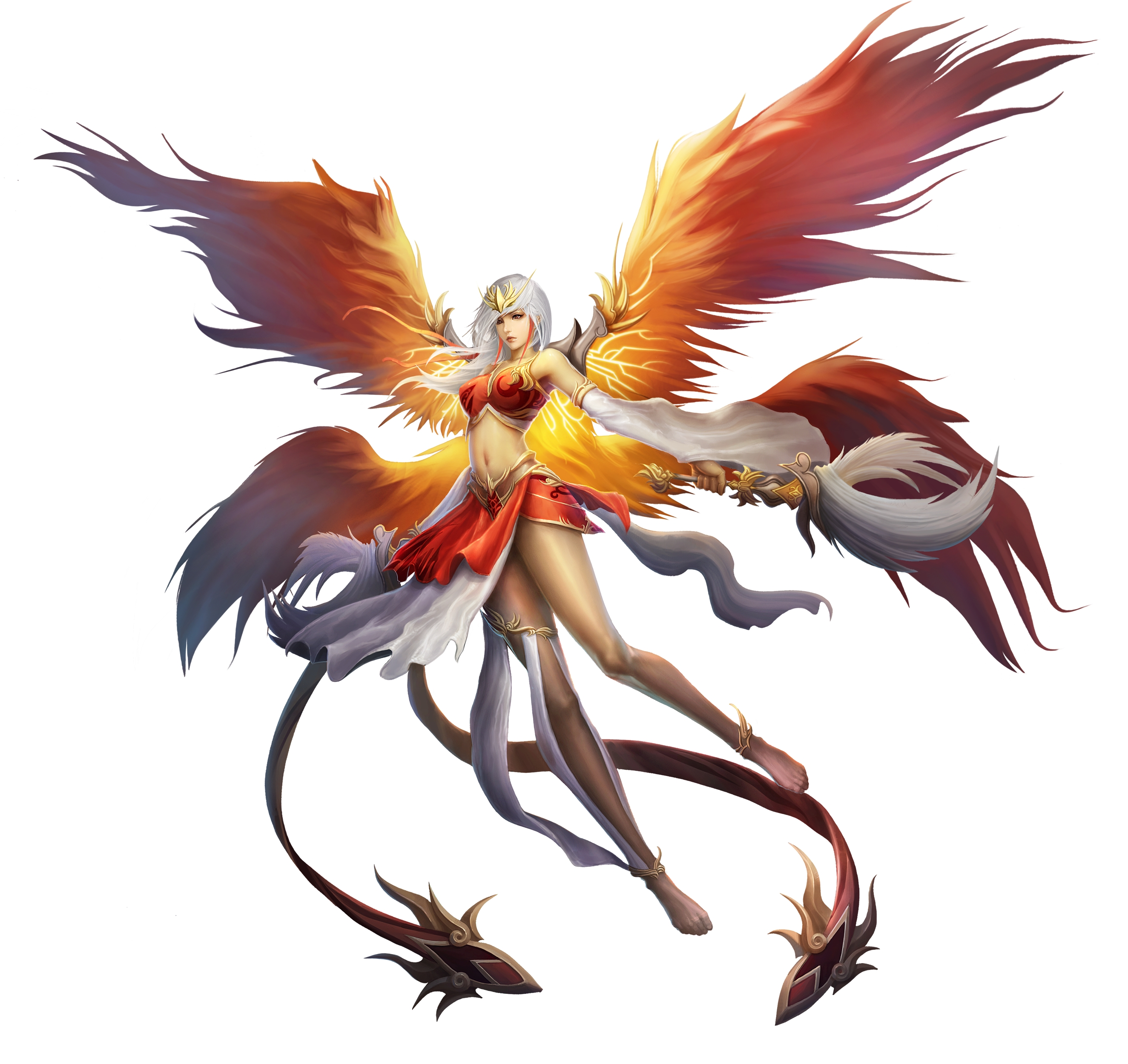 Anime Phoenix Wings Girl 0425