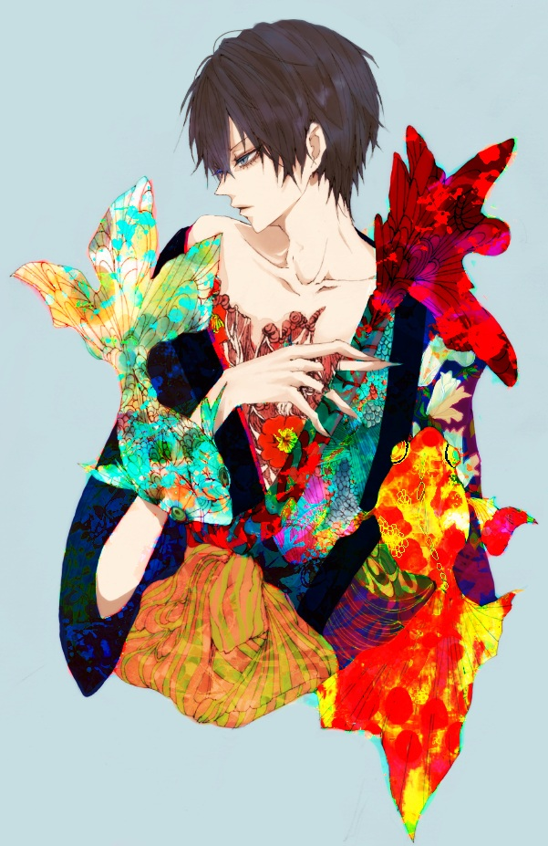 Tags: Anime, Pixiv Id 573568, Katekyo Hitman REBORN!, Hibari Kyoya, Mobile Wallpaper, Pixiv
