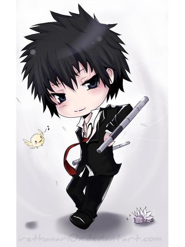 Tags: Anime, RainNoir, Katekyo Hitman REBORN!, Hibari Kyoya, Roll (KHR), Hibird, Tonfa, Hedgehog, Fanart, deviantART