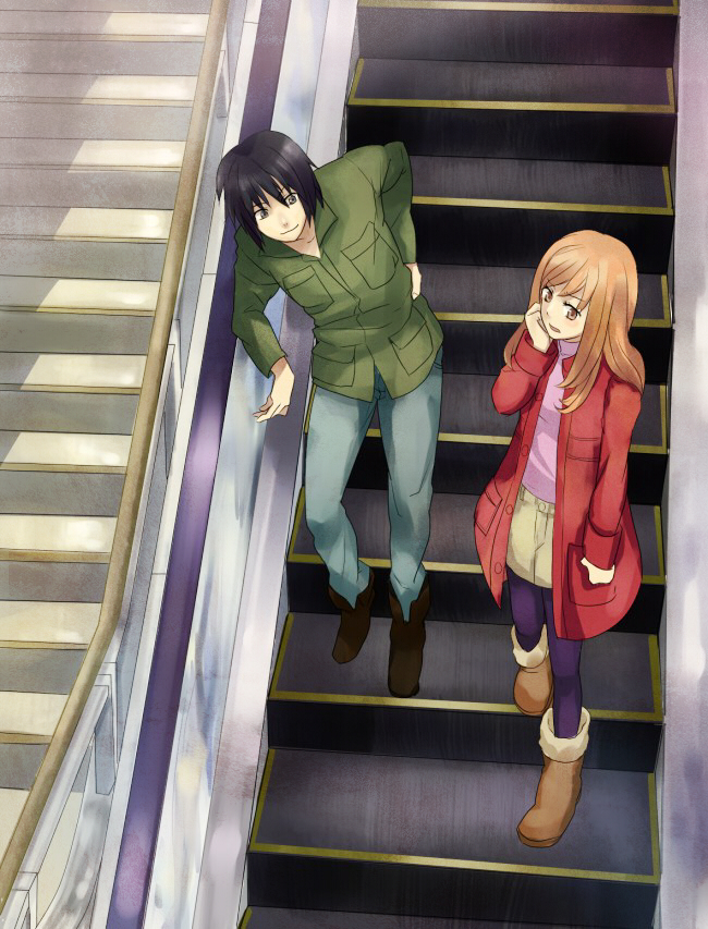 Tags: Anime, Higashi no Eden, Morimi Saki, Takizawa Akira, Eden Of The East