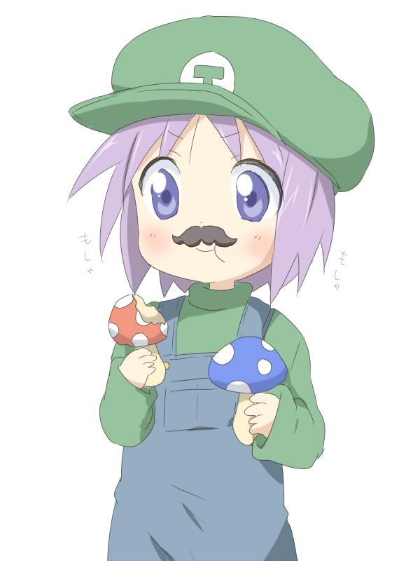 Tags: Anime, Punchiki, Lucky☆Star, Hiiragi Tsukasa, Luigi (Cosplay), Pixiv, Fanart From Pixiv, Fanart