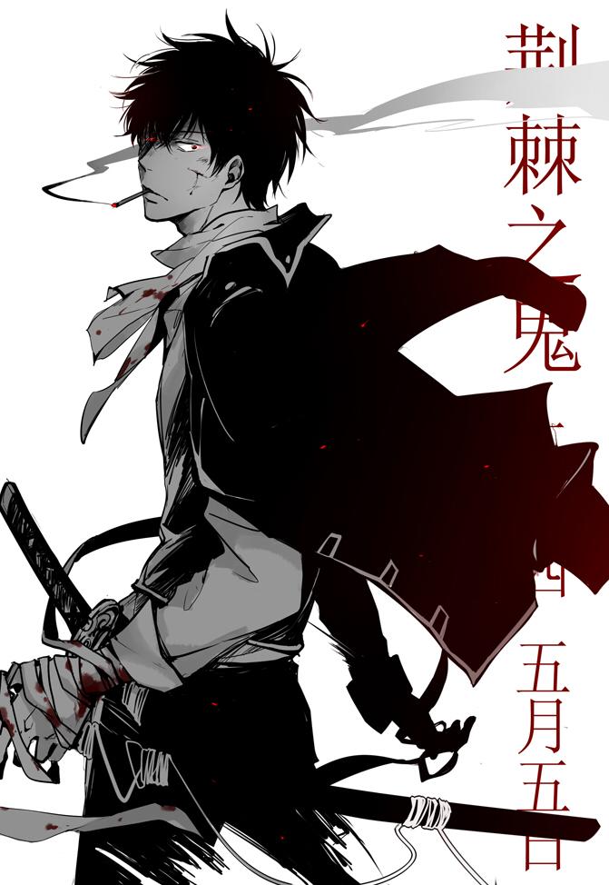 Tags: Anime, Feiqiuxuan, Gintama, Hijikata Toushirou, Fanart From Pixiv, Pixiv, Mobile Wallpaper, Fanart