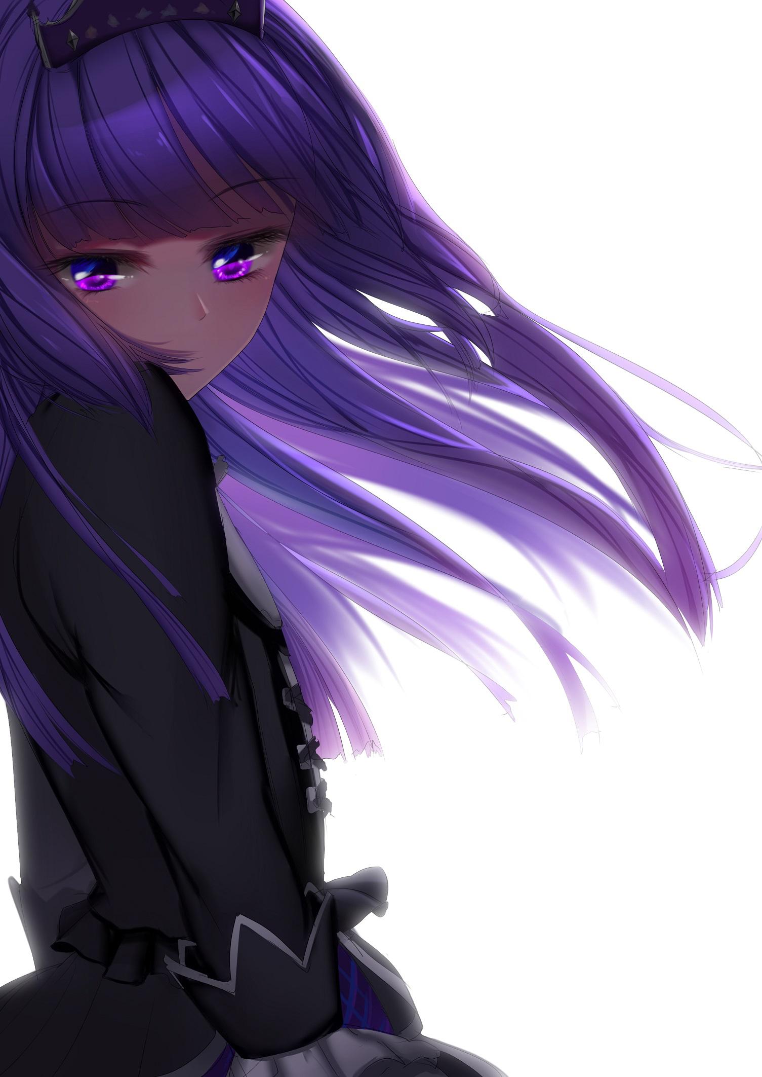 Картинки девушка с фиолетовыми волосами аниме