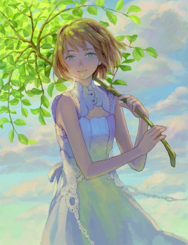 Tags: Anime, Hiko (Scape), Leaf Umbrella, Pixiv, Original
