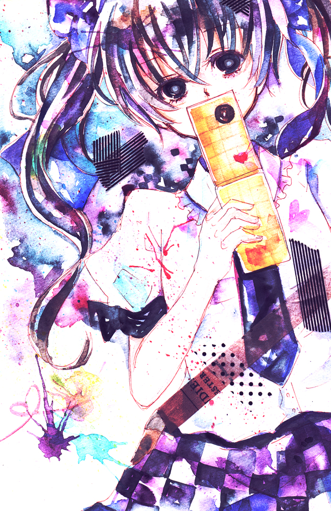 Tags: Anime, Shiratsuyu, Touhou, Himekaidou Hatate, Traditional Media, Watercolor, Hatate Himekaidou