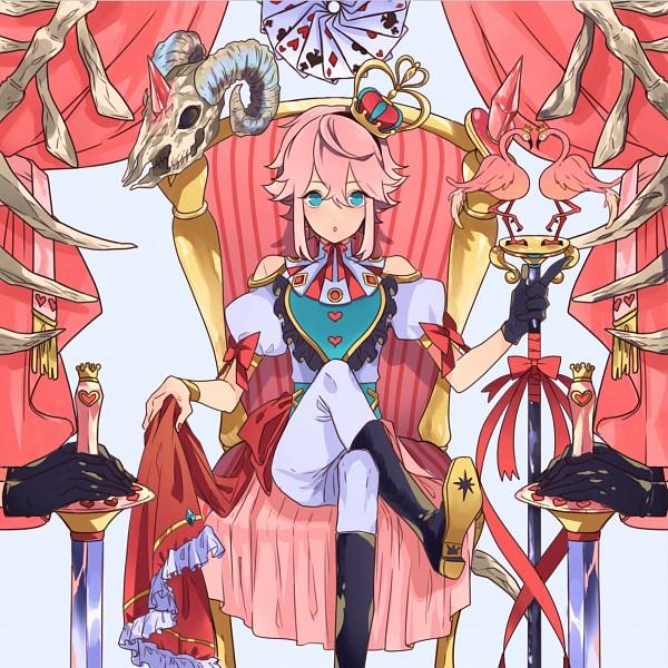 Tags: Anime, Pixiv Id 22834090, Ensemble Stars!, Himemiya Touri, Curtain, Holding Object, Skull