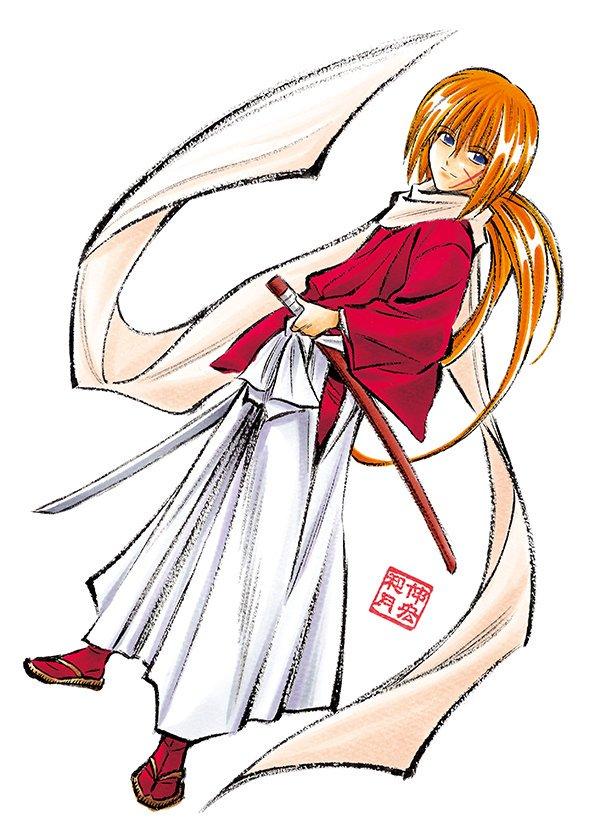 Tags: Anime, Watsuki Nobuhiro, Rurouni Kenshin, Himura Kenshin, Twitter, Official Art