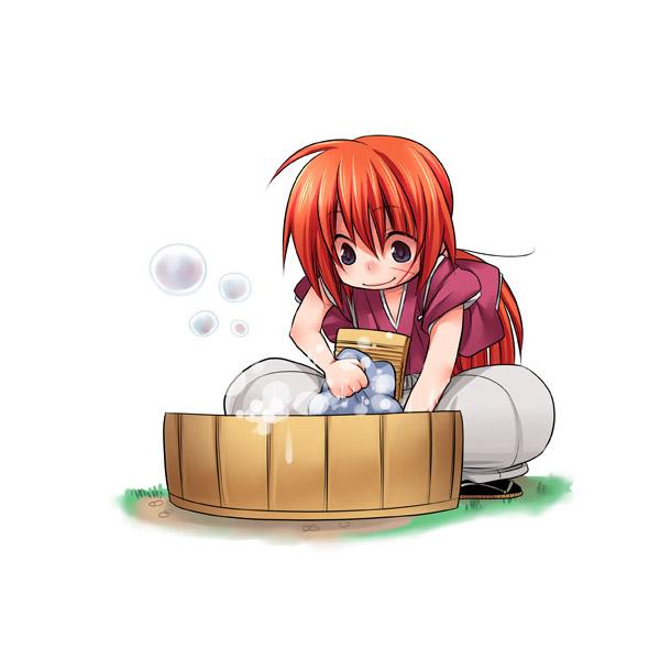 Tags: Anime, Rurouni Kenshin, Himura Kenshin, Washing