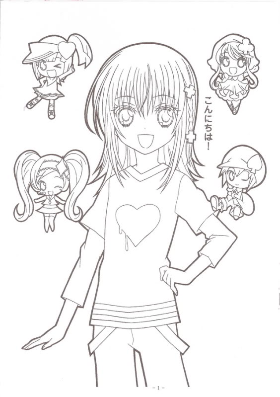 Rima Chan From Shugo Chara Coloring Page