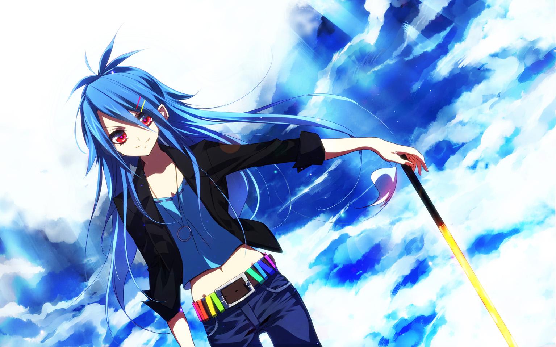 An Anime Character With Blue Hair : Hinanawi tenshi touhou image