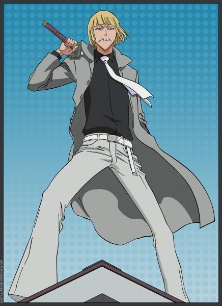 Tags: Anime, BLEACH, Hirako Shinji, Spotted, Spotted Background, Bob Cut, Vizard