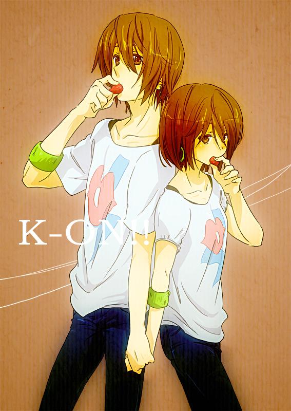 Tags: Anime, Tsukimushi, K-ON!, Hirasawa Yui, Miyashita Yuu, Listen!!, Mobile Wallpaper, Yui Hirasawa