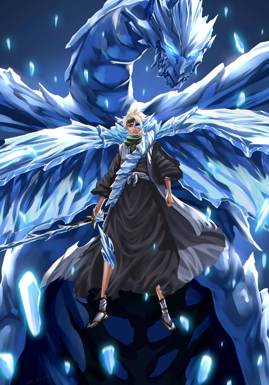 Tags Anime BLEACH Hitsugaya Toushirou Bankai Mobile Wallpaper