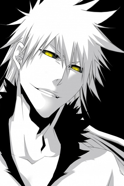 Tags: Anime, BLEACH, Hollow Ichigo, Unnaturally White Skin, Hollow, Black Background