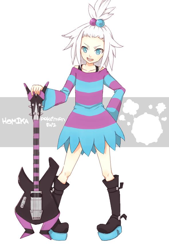 Tags: Anime, Pokémon, Homika, Bass Guitar, Pixiv, Fanart, Fanart From Pixiv, Roxie