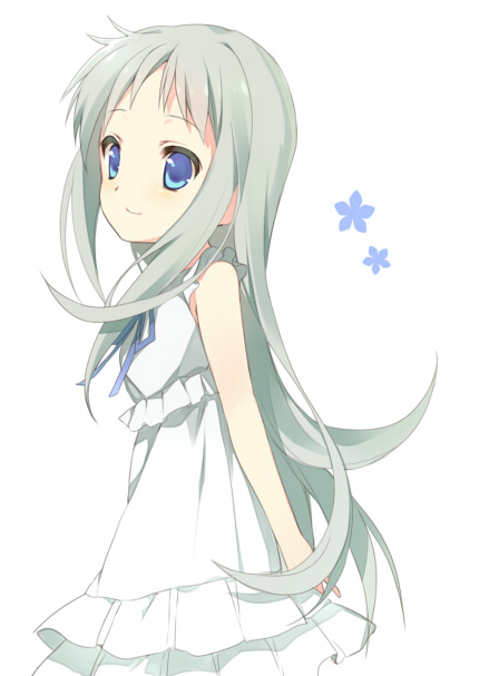 Tags: Anime, Mayachi (Amuriya), Ano Hi Mita Hana no Namae o Bokutachi wa Mada Shiranai., Honma Meiko, Pixiv, Mobile Wallpaper, Fanart