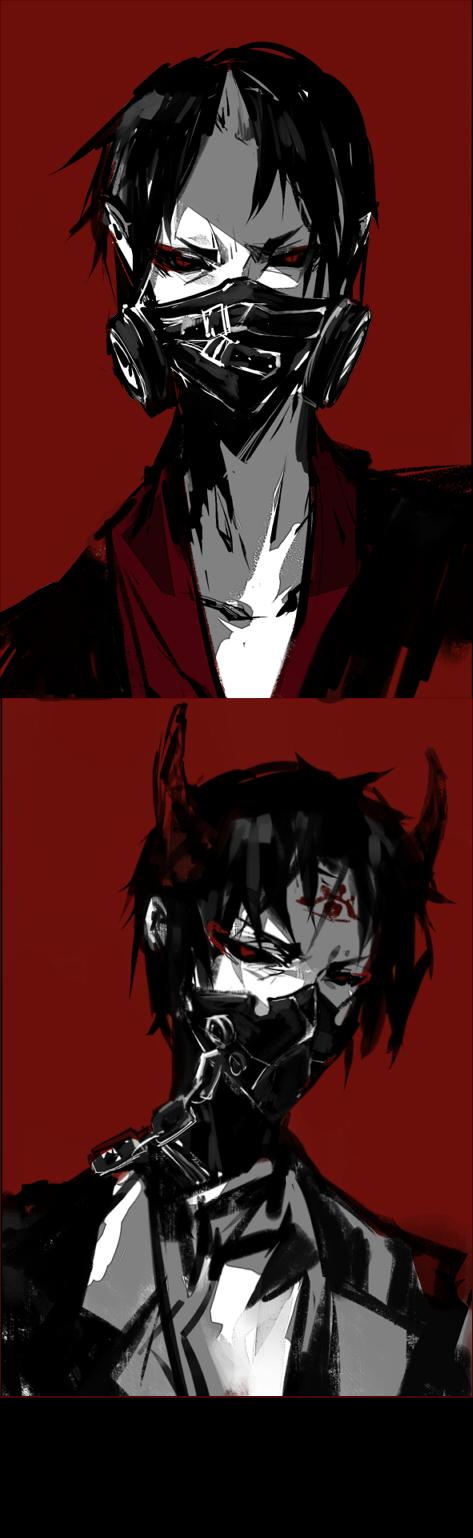 Tags: Anime, Pixiv Id 2769310, Hoozuki no Reitetsu, Hakutaku (Hoozuki no Reitetsu), Hoozuki (Hoozuki no Reitetsu), Tokyo Ghoul (Parody), Tokyo Kushu (Cosplay), Fanart From Pixiv, Pixiv, Fanart, Cool-headed Hoozuki