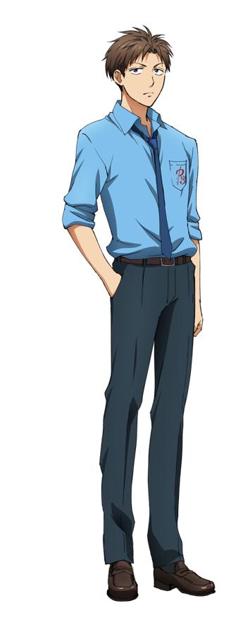 Tags: Anime, Taniguchi Junichiro, Dogakobo, Gekkan Shoujo Nozaki-kun, Hori Masayuki, Official Art, Cover Image, PNG Conversion