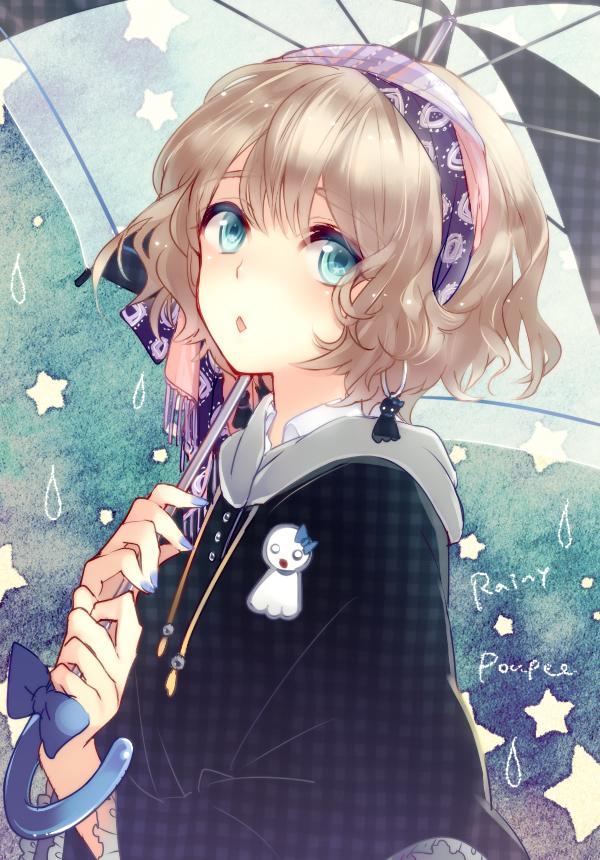Tags: Anime, Horiizumi Inko, Teru Teru Bouzu, Poncho, Pixiv, Mobile Wallpaper, Original