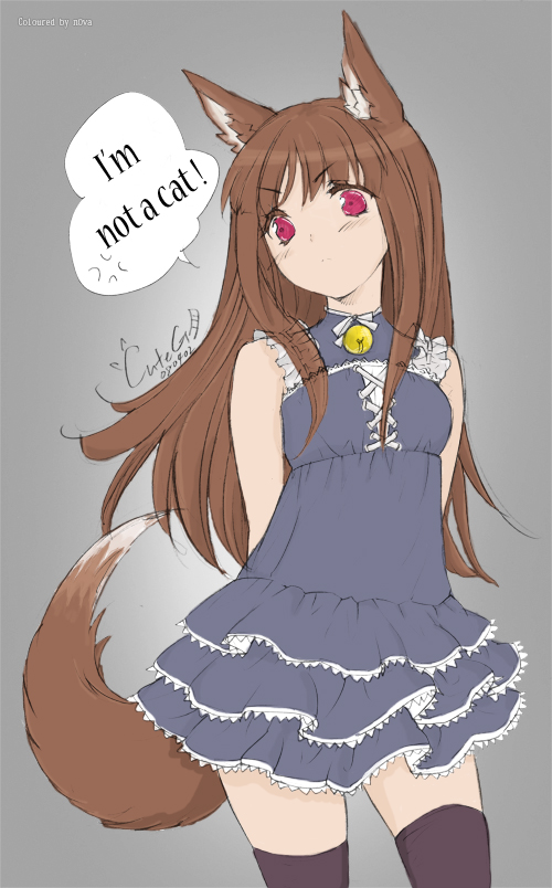 Tags: Anime, CUTEG, Ookami to Koushinryou, Horo, Pixiv, Mobile Wallpaper