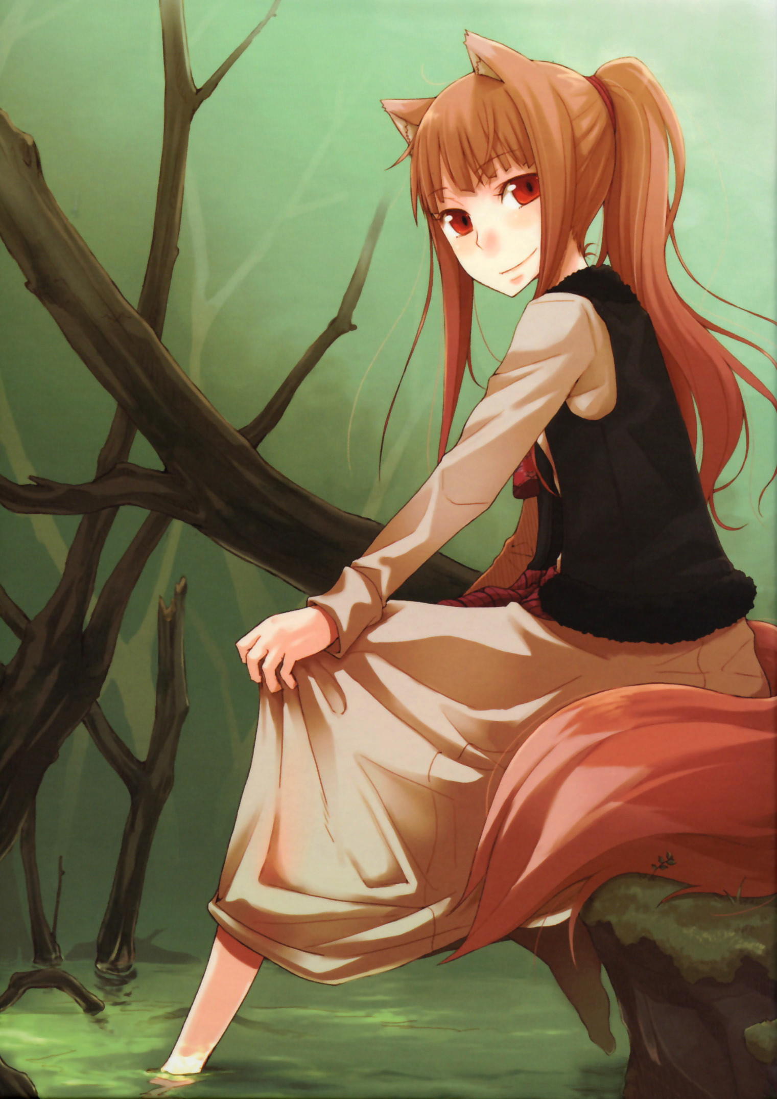 Spice and Wolf Wallpaper Holo by yukate on