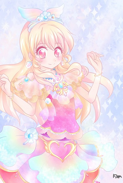 Tags: Anime, Sparkles, Tiara, Short Sleeves, Pixiv Id 3076598, Multi-colored Outfit, Aikatsu!