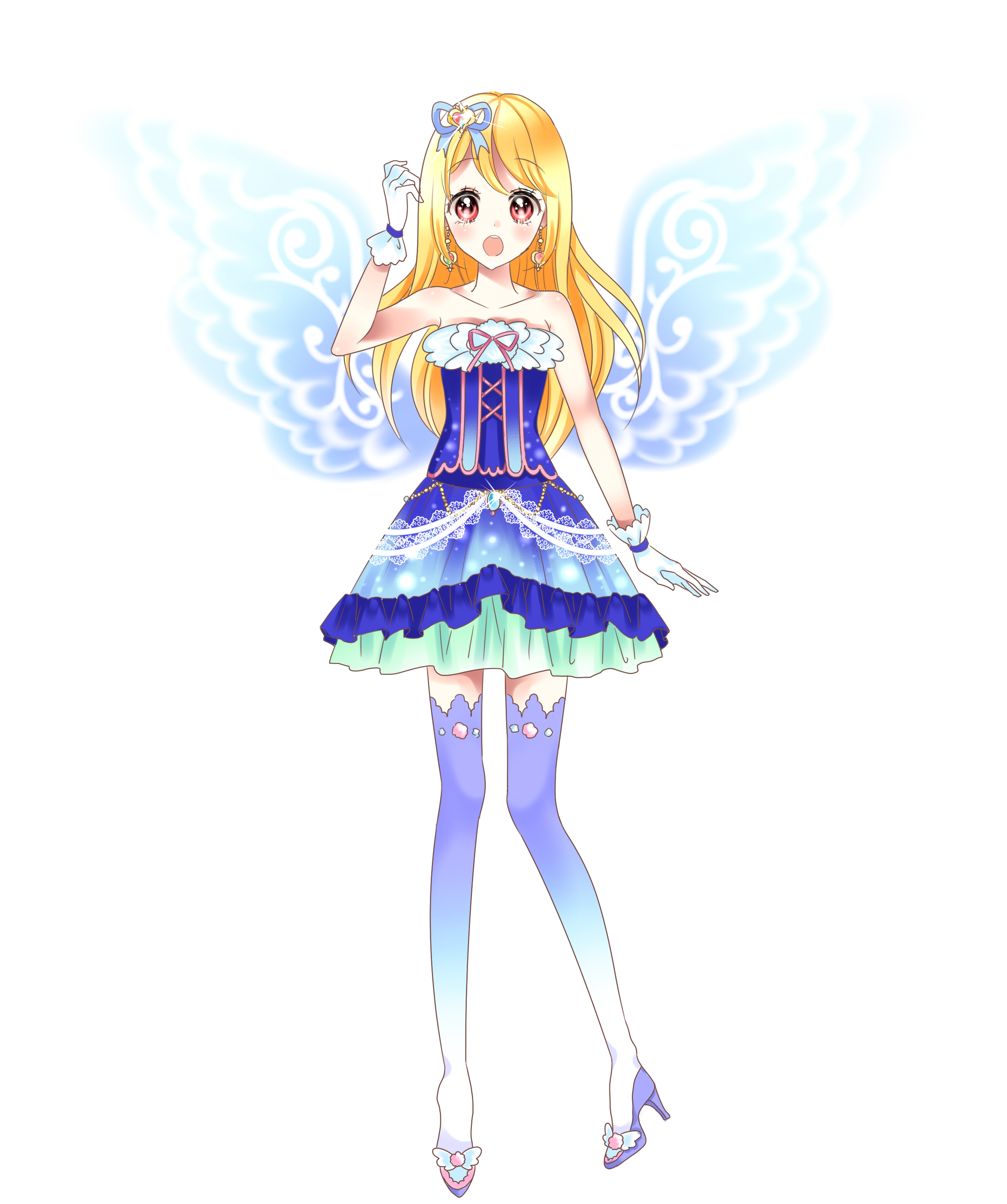 Blue short dresses