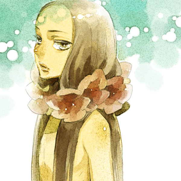 Tags: Anime, Hoshino Lily, Flower Necklace, Pixiv