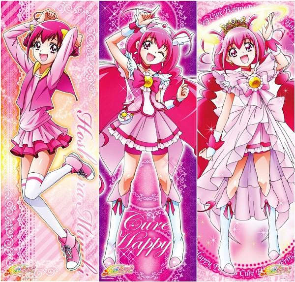 Tags: Anime, Jumping, Tiara, Toei Animation, Smile Precure!, Cure Happy, Hoshizora Miyuki