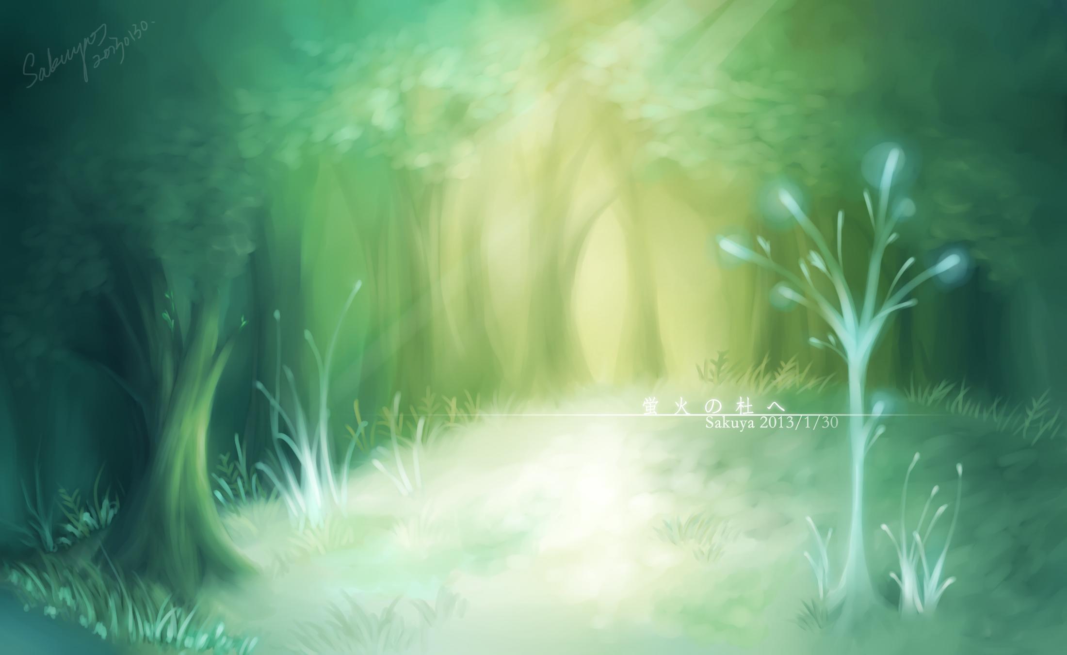 Hotarubi No Mori E Into The Forest Of Fireflies Light Wallpaper