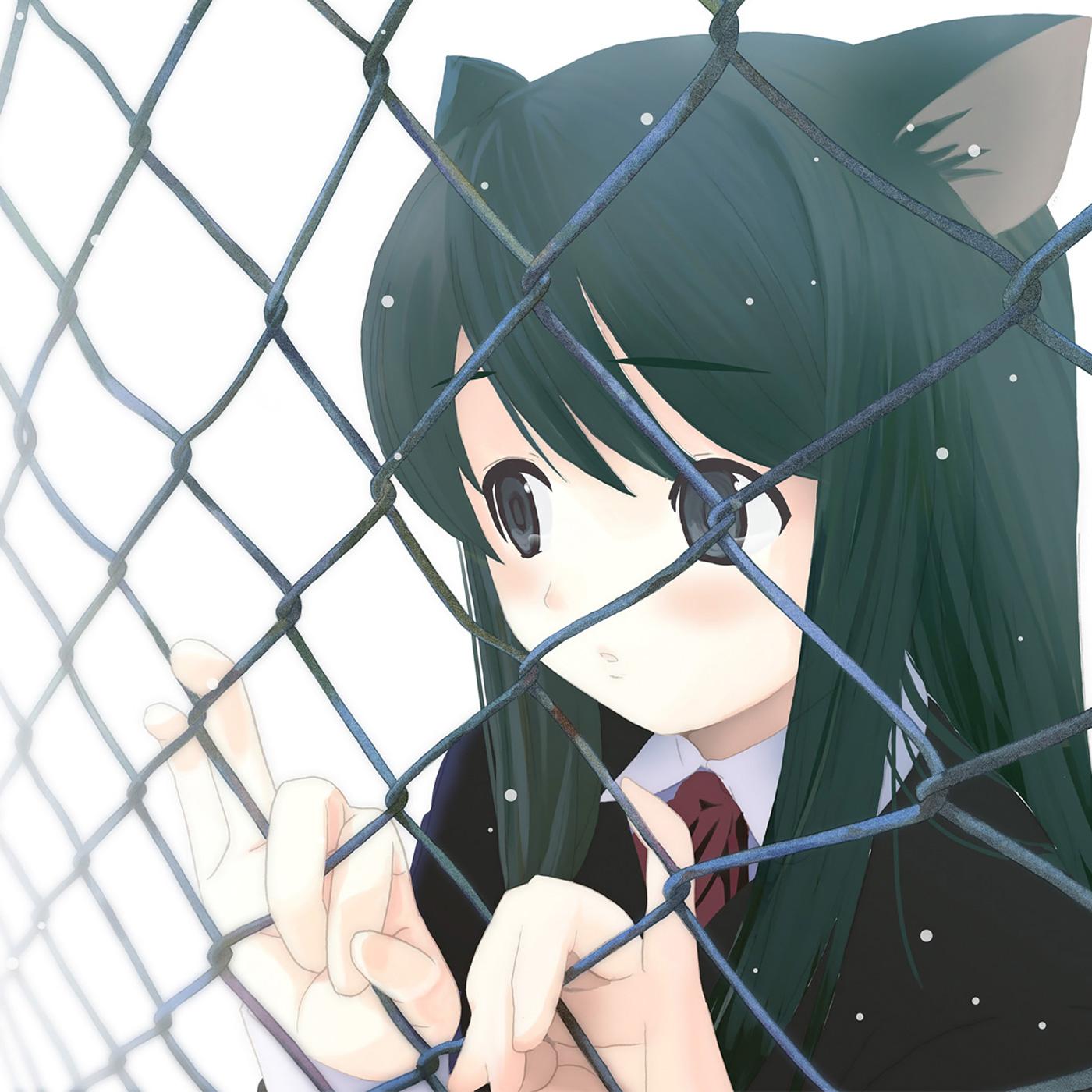 Картинки аниме девушек кошек грустные