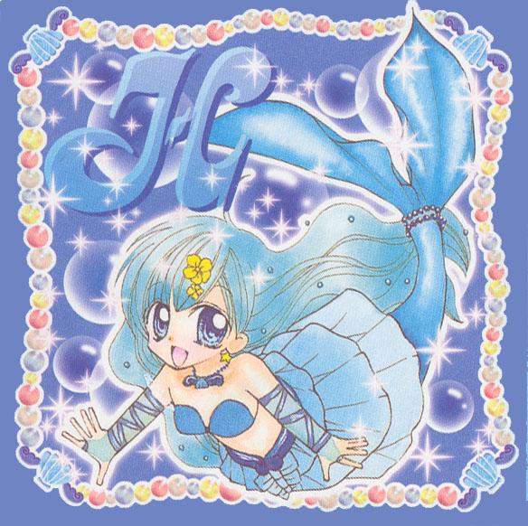 Tags: Anime, Hanamori Pink, Mermaid Melody Pichi Pichi Pitch, Houshou Hanon, Manga Color, Official Art, Scan