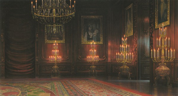 Tags: Anime, Room, Candle, Rug, Howl's Moving Castle, Scenery, Studio Ghibli