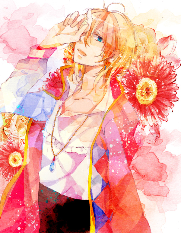Tags: Anime, Pixiv Id 608676, Howl no Ugoku Shiro, Howl, Pink Flower