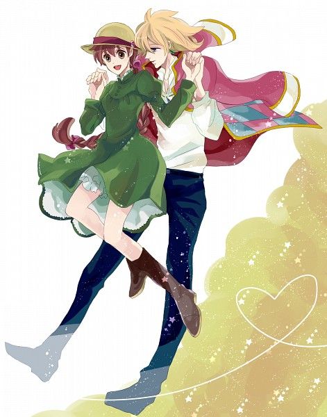 Tags: Anime, Dandel, Studio Ghibli, Howl no Ugoku Shiro, Howl, Sophie Hatter, Green Dress