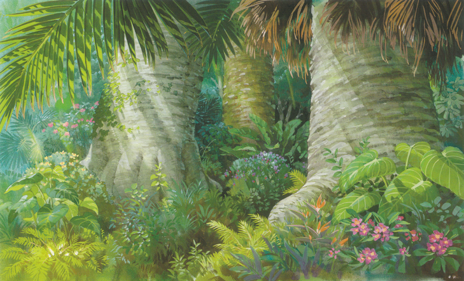 Wallpaper garden