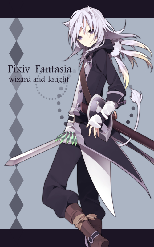 Tags: Anime, Hijiri, Hugh (PFW&K), Pixiv Fantasia: Wizard and Knight, Pixiv Fantasia Series, Pixiv, Mobile Wallpaper