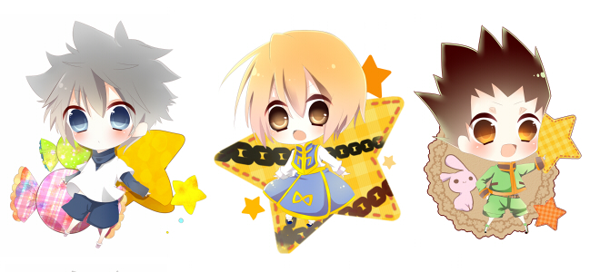 Tags: Anime, Pixiv Id 1679525, Hunter x Hunter, Killua Zoldyck, Gon Freaks, Kurapika, Pentagram, Pixiv, Fanart, Facebook Cover