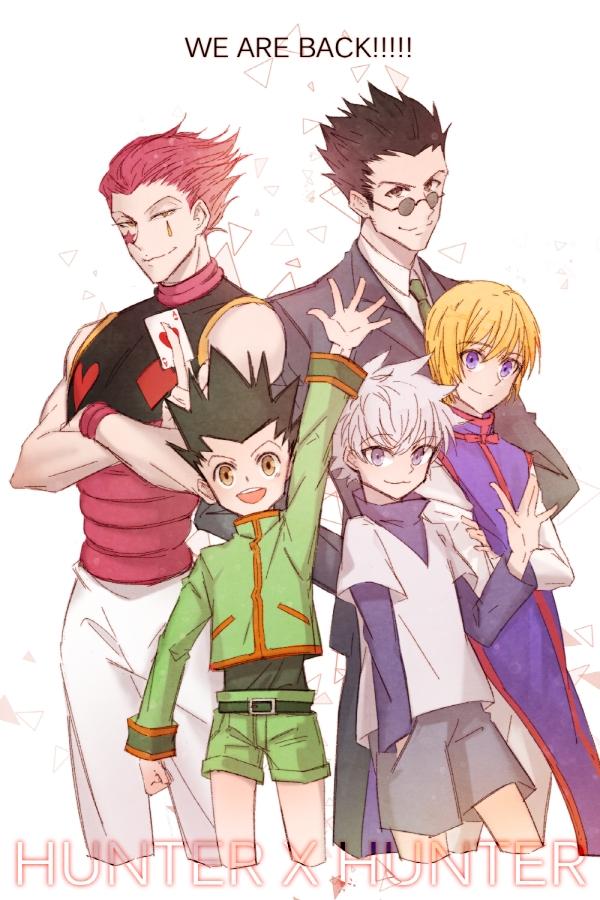 Tags: Anime, nau, Hunter x Hunter, Killua Zoldyck, Hisoka, Leorio Paladiknight, Gon Freaks, Kurapika, Pixiv, Mobile Wallpaper, Fanart, Fanart From Pixiv
