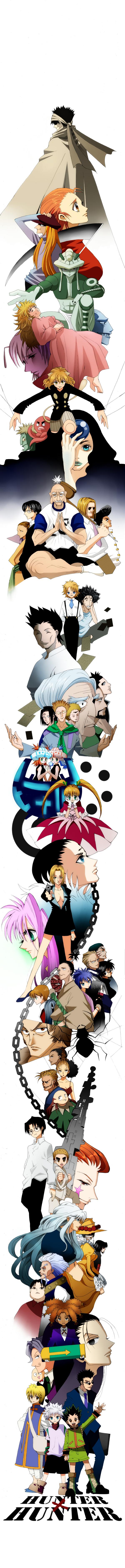 Tags: Anime, Leo (Pixiv2484271), Hunter x Hunter, Biscuit Krueger, Shalnark, Phinks Magcub, Palm Siberia, Killua Zoldyck, Ging Freaks, Neferpitou, Nobunaga Hazama, Menthuthuyoupi, Isaac Netero
