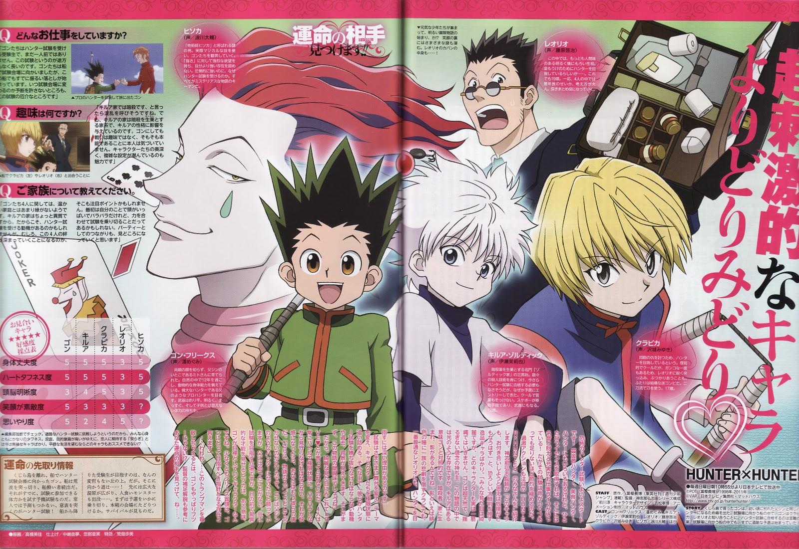 Hunter X Hunter Official Art Scan Zerochan Anime Image Board