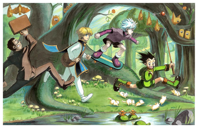 Картинки аниме охотник и охотник