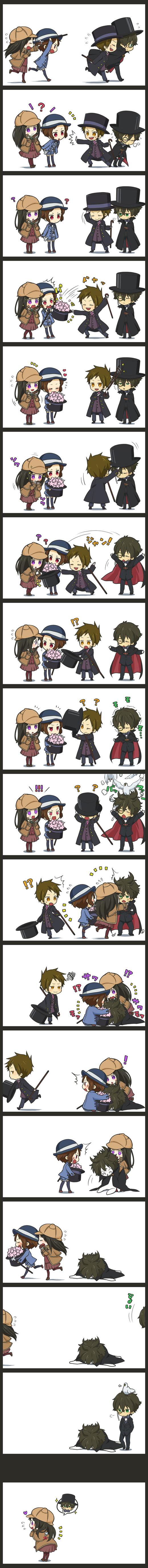 Tags: Anime, Teadial, Hyouka, Ibara Mayaka, Fukube Satoshi, Chitanda Eru, Oreki Houtarou