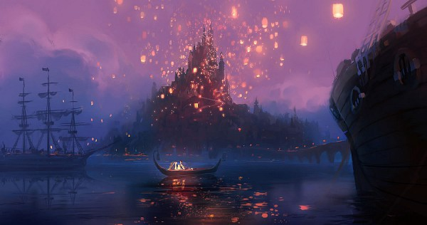 Tags: Anime, Disney, Rapunzel, Tangled (Disney), Rapunzel (Character), Rapunzel (Tangled), Reflection