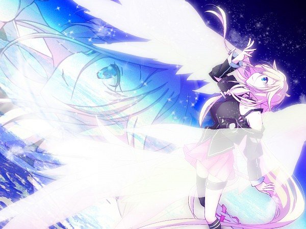 Tags: Anime, Haru Aki, Vocaloid, IA, Zoom Layer, Looking Up, 1600x1200 Wallpaper