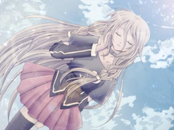 Tags: Anime, Pixiv Id 8667, Vocaloid, IA, Pink Skirt, Blue Sky